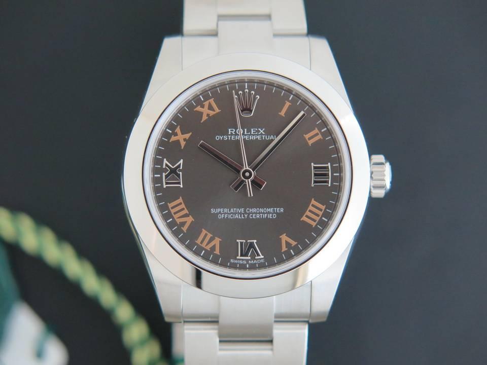 Rolex  Rolex Oyster Perpetual NEW 177200 Dark Grey Dial