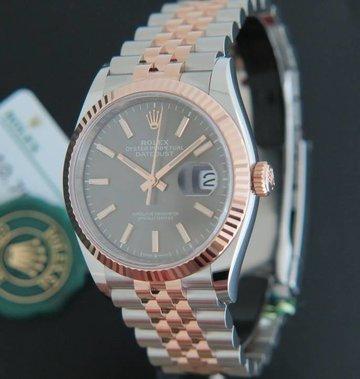 Rolex  Datejust NEW 126231 Everose/Steel Dark Rhodium Dial