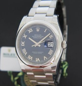 Rolex  Datejust Blue Roman Dial NEW 116200