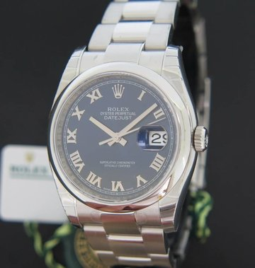Rolex  Datejust Blue Roman Dial NEW 116200