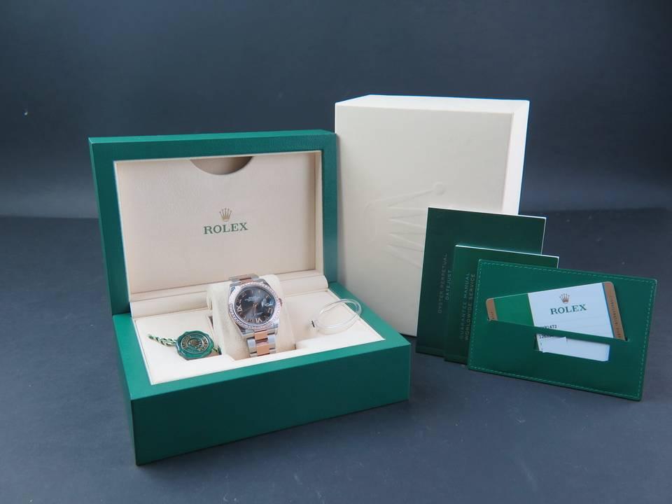Rolex  Rolex Datejust NEW 126281RBR Everose/Steel Dark Rhodium Diamond Dial