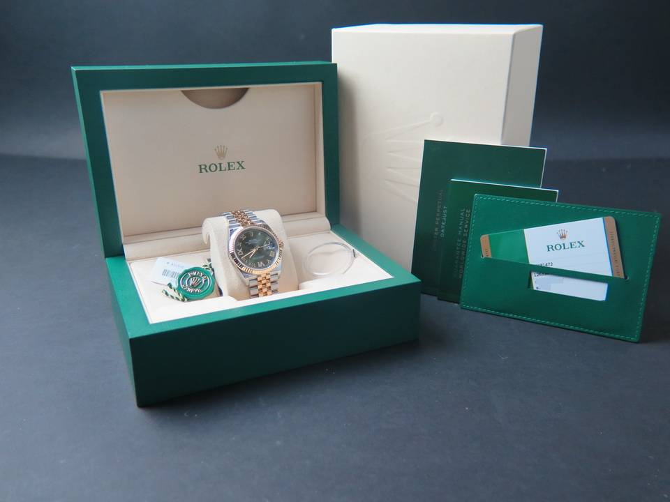 Rolex  Rolex Datejust NEW 126233 Green Diamond dial