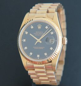 Rolex  Datejust Yellow Gold 16018 Black Dial