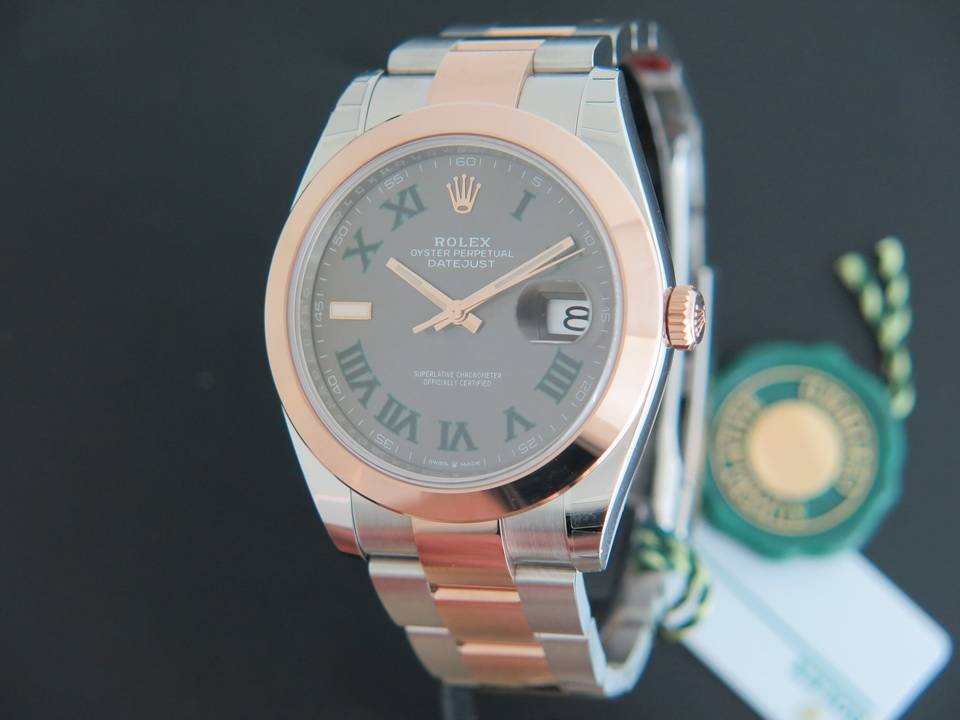 Rolex  Rolex Datejust 41 Everosegold/Steel NEW ''Slate Dial'' 126301