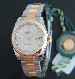 Rolex  Datejust Gold/Steel Silver Dial NEW 178243