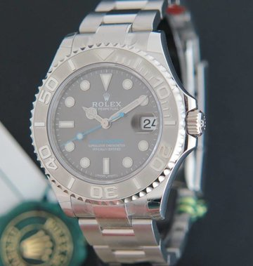 Rolex  Yacht-Master 37MM Rhodium NEW 268622