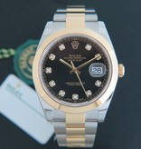 Rolex  Rolex Datejust 41 Gold/Steel Black Diamond Dial 126303 NEW