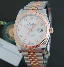 Rolex  Datejust Everosegold/Steel White Diamond Dial NEW 116231