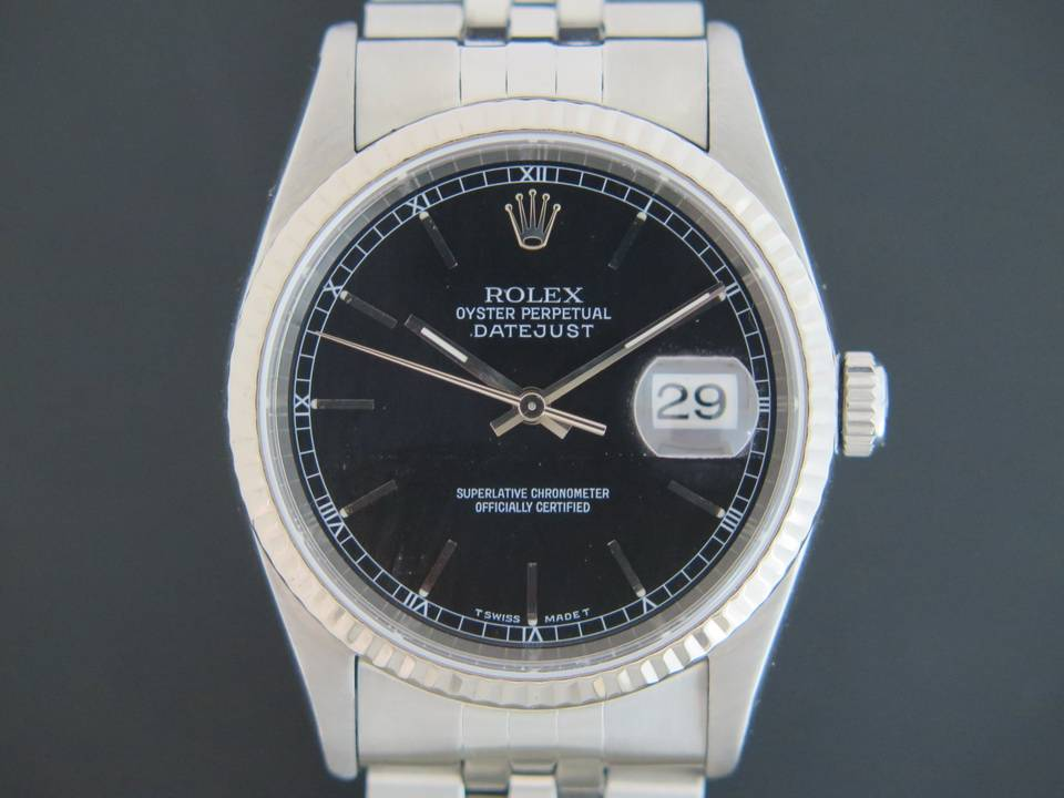 Rolex  Rolex Datejust  Black Dial 16234