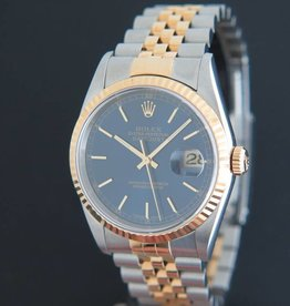 Rolex  Datejust Gold/Steel 16233 Blue Dial