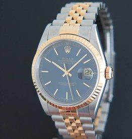 Rolex  Datejust Gold/Steel 16233 Blue Dial