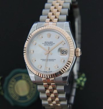Rolex  Datejust Everosegold/Steel MOP Diamond Dial NEW 178271