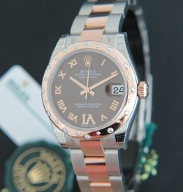 Rolex  Datejust Evererosegold / Steel Choco VI Diamonds 178341 NEW