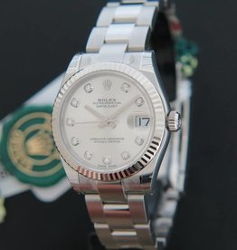 Rolex  Datejust Silver Diamonds 178274 NEW