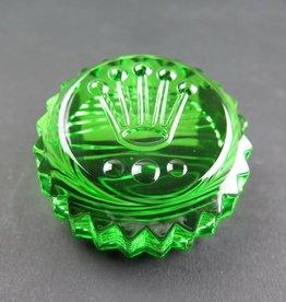 Rolex  Paperweight green crystal Triplock