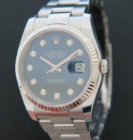 Rolex  Datejust  Blue Diamond Dial 116234