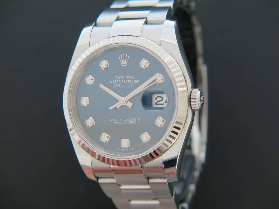 Rolex  Rolex Datejust  Blue Diamond Dial 116234