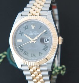 Rolex  Datejust 41 Gold/Steel Slate Dial NEW 126333