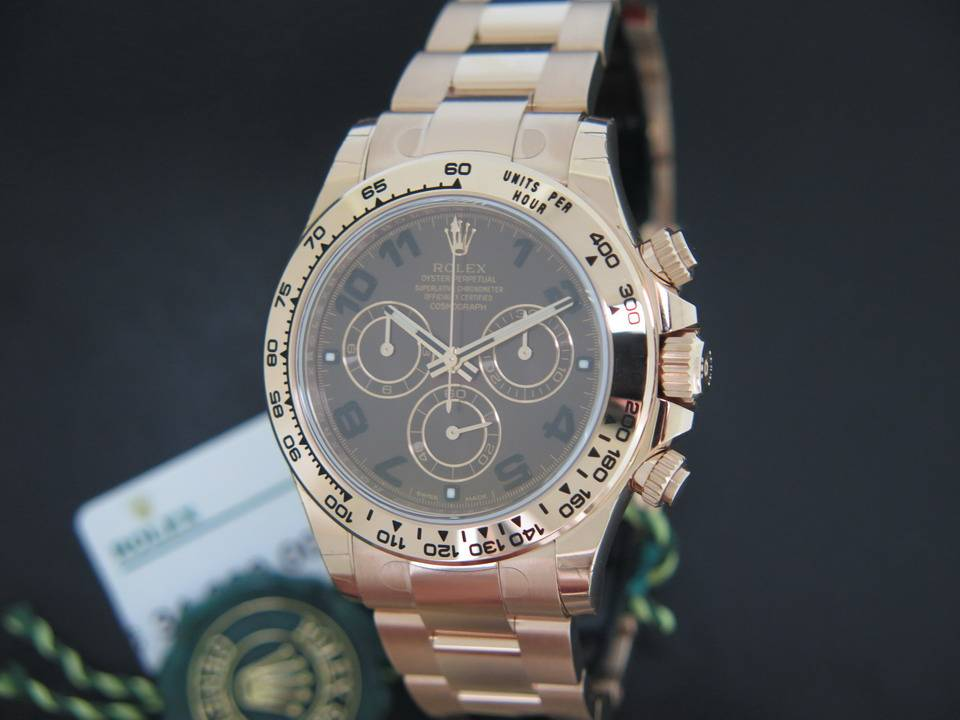 Rolex  Rolex Daytona Everose NEW  116505 Choco Dial