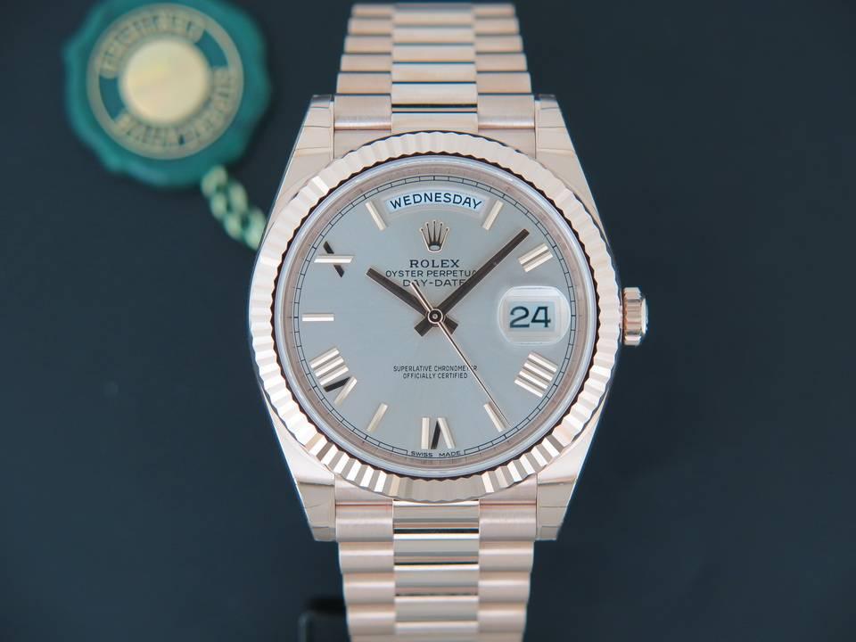 Rolex  Rolex Day-Date Everose Sundust Roman Dial  228235 NEW