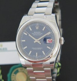 Rolex  Datejust Blue Dial 116200 NEW