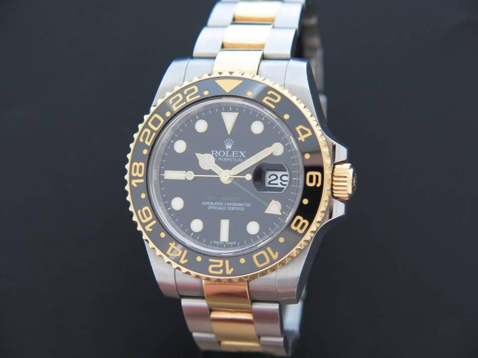 8f86f6c07 Rolex Oyster Perpetual GMT Master II Gold/Steel 116713LN - Filipucci