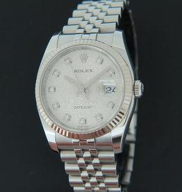 Rolex  Datejust Silver Diamond Dial 116234