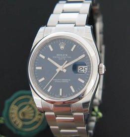 Rolex  Date 115200 Blue Dial NEW