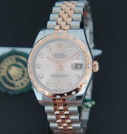Rolex  Datejust Evererosegold / Steel  Diamonds 178341 NEW