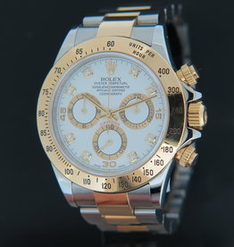 Rolex  Daytona White Diamond Dial 116523