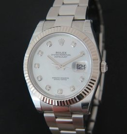 Rolex  Datejust 41 MOP Diamonds NEW 126334