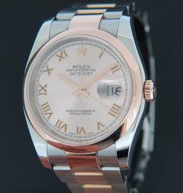 Rolex  Datejust Rosegold / Steel 116201 Pink Dial