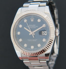 Rolex  Datejust 41 Blue Diamond Dial 126334