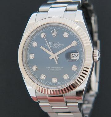Rolex  Datejust 41 Blue Diamond Dial 126334