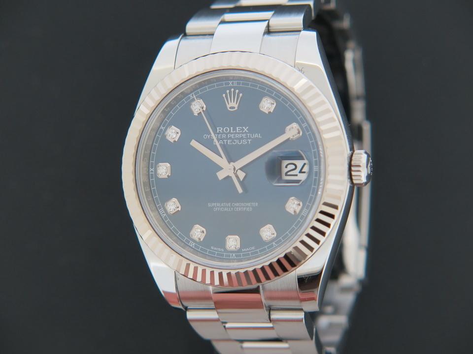 Rolex  Rolex Datejust 41 Blue Diamond Dial 126334