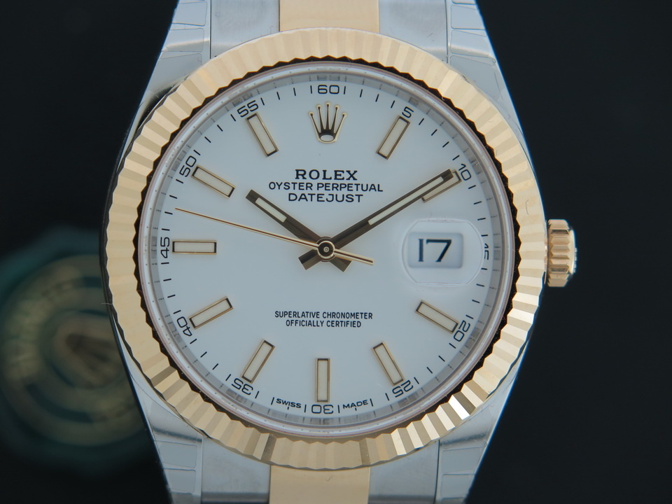 Rolex  Rolex Datejust 41 Gold/Steel NEW 126333 White Dial