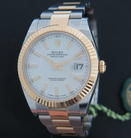 Rolex  Datejust 41 Gold/Steel NEW 126333 White Dial