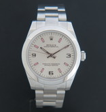 Rolex  Rolex Oyster Perpetual 177200 Silver Dial with Pink Index