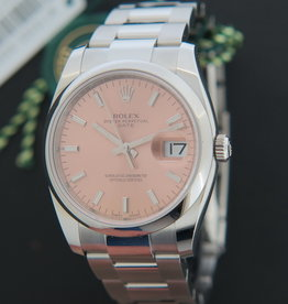 Rolex  Date Pink Dial NEW 115200