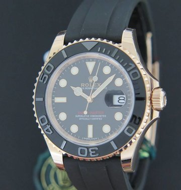 Rolex  Yacht-Master Everose Gold Oysterflex NEW  FULL STICKERS
