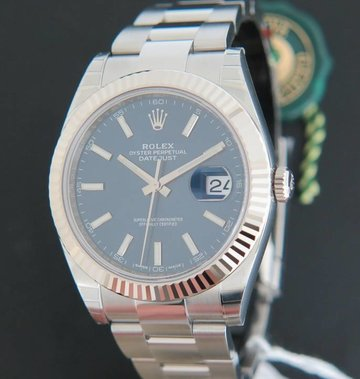 Rolex  Datejust 41 Blue Dial 126334 NEW  FULL STICKERS
