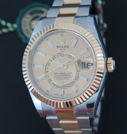 Rolex  Sky-Dweller Gold/Steel NEW 326933 Champagne
