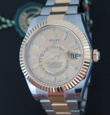 Rolex  Sky-Dweller Gold/Steel NEW 326933 Champagne