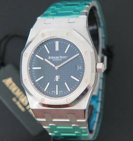 Royal Oak Jumbo Extra-Thin 15202ST NEW Blue Dial