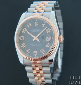 Rolex  Datejust Everosegold/Steel Black Dial 116231