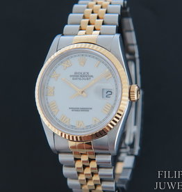 Rolex  Datejust Gold/Steel White Dial 16233