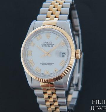 Rolex  Datejust Gold/Steel White Dial 16233