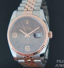 Rolex  Datejust Everosegold/Steel Choco Diamond Dial 116231