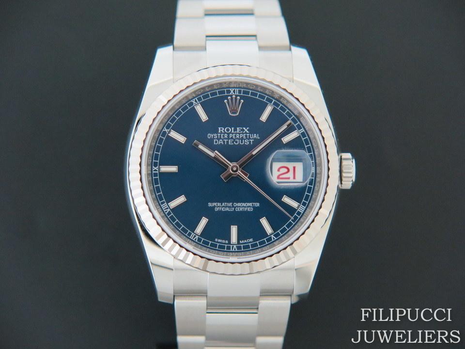 Rolex  Rolex Datejust Blue Dial NEW 116234