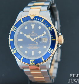 Rolex  Submariner Date Gold/Steel  Blue Dial 16613